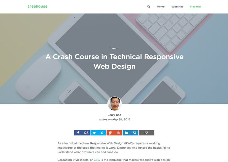 A Crash Course in Technical Responsive Web Design